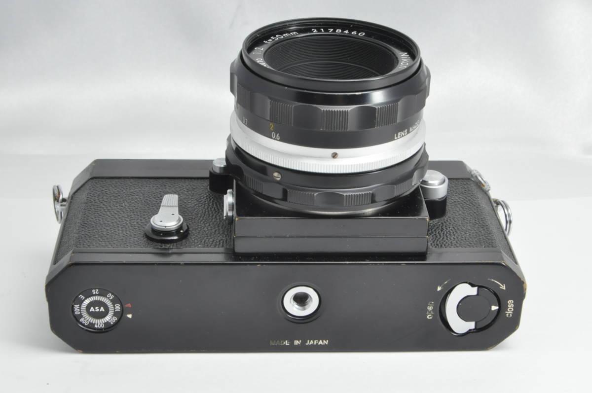 #2970 NIKON F アイレベル ブラックボディ NIKKOR-HC 50mm F2 ニコン 黒 レンズ付き フィルムカメラ_画像5