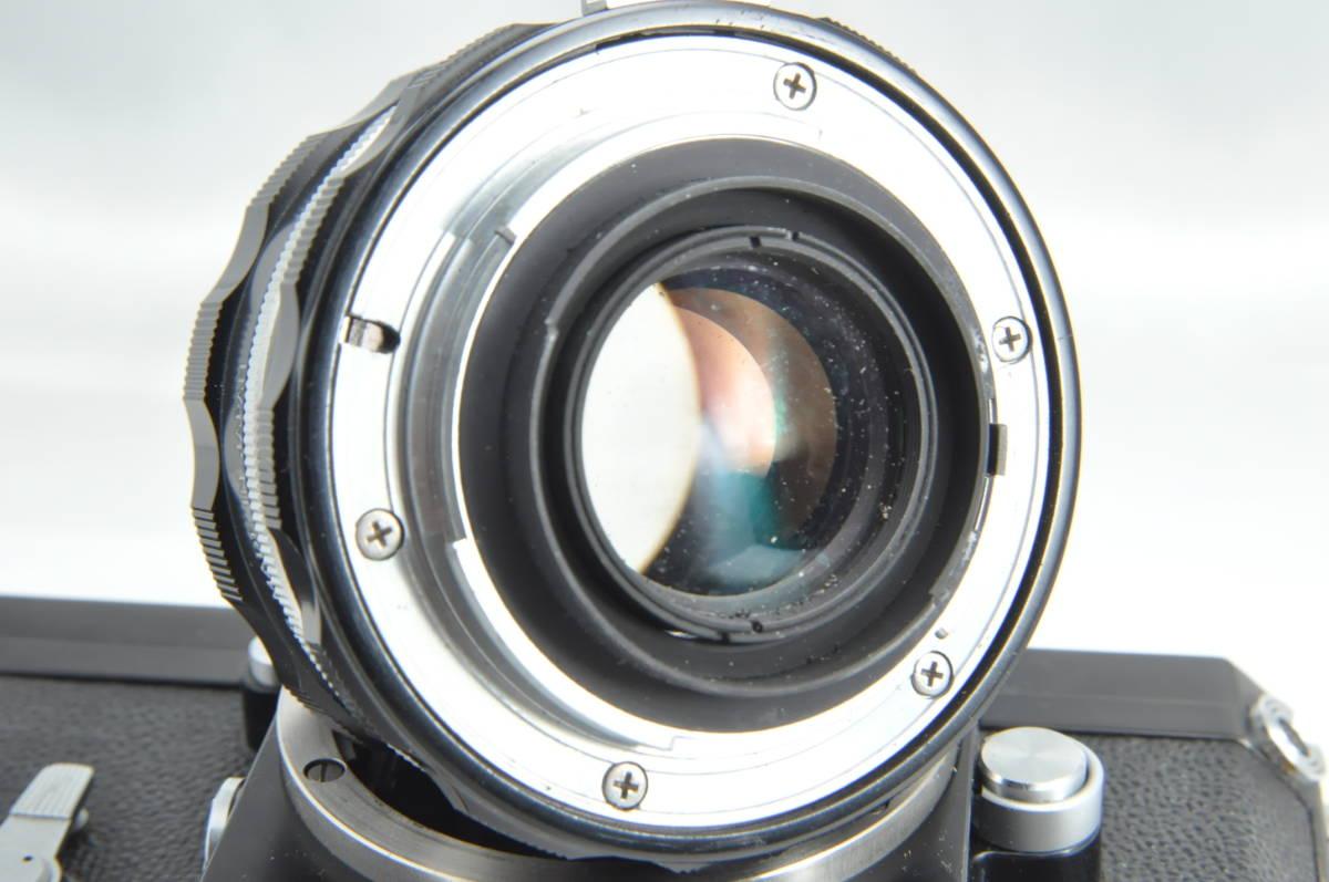 #2970 NIKON F アイレベル ブラックボディ NIKKOR-HC 50mm F2 ニコン 黒 レンズ付き フィルムカメラ_画像10