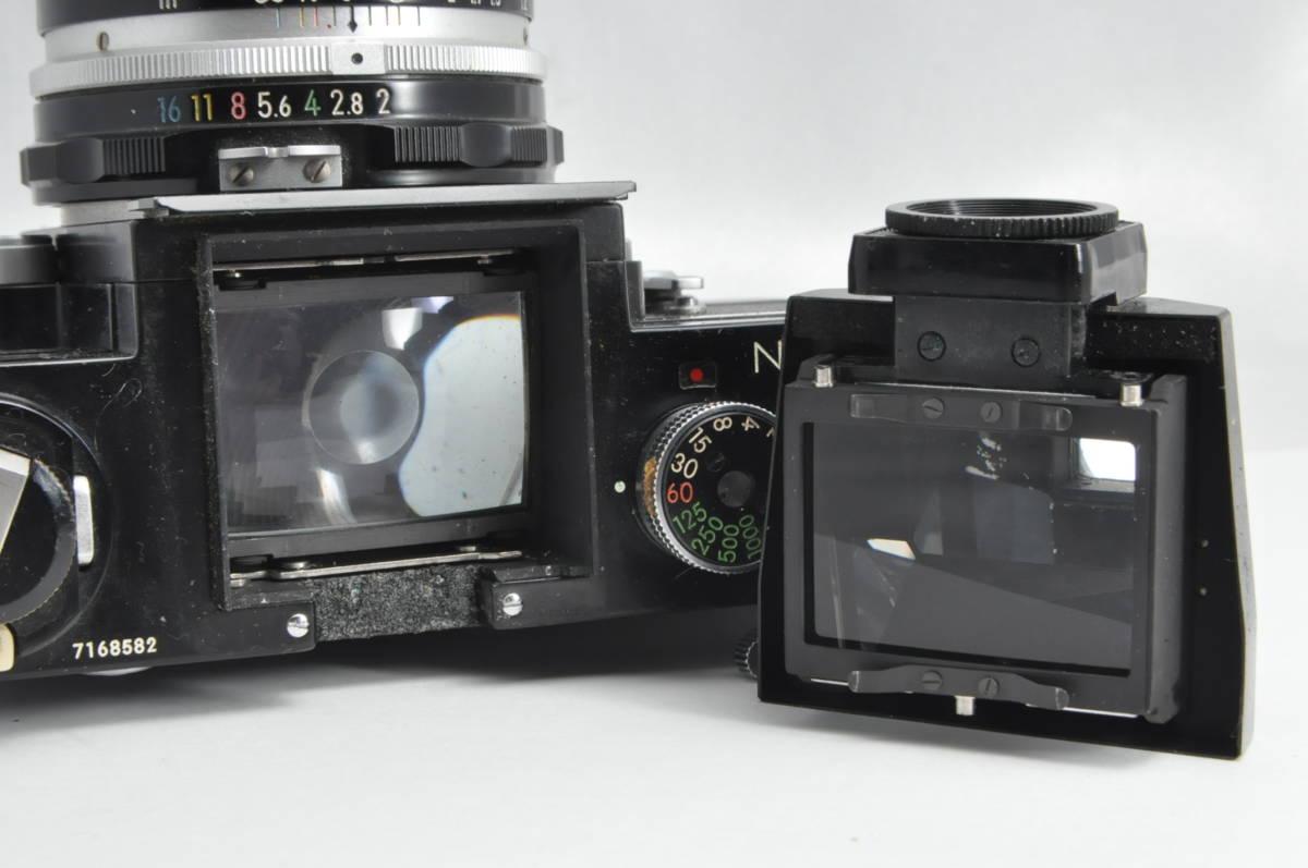 #2970 NIKON F アイレベル ブラックボディ NIKKOR-HC 50mm F2 ニコン 黒 レンズ付き フィルムカメラ_画像7