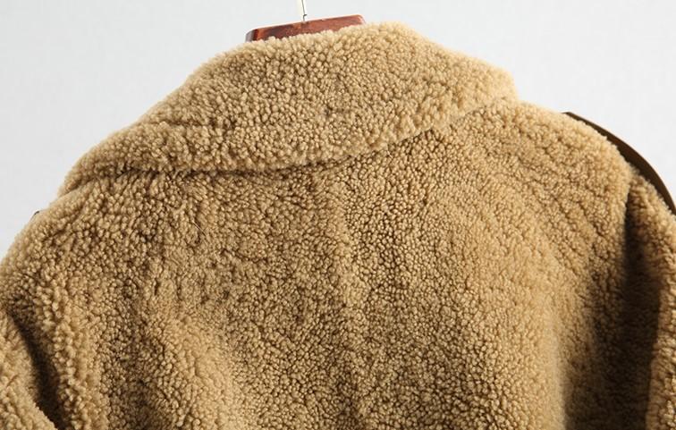 ◆◆◆有名デザイナー特別オーダー受付◆◆◆世界で自分だけのコート♪ウールレザー毛皮 トシープスキンラムXmas presentにいかが?(^^♪_画像5