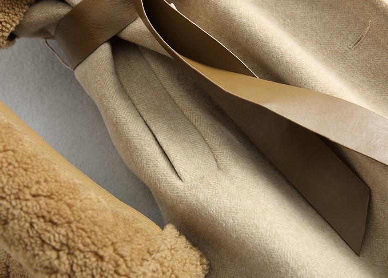 ◆◆◆有名デザイナー特別オーダー受付◆◆◆世界で自分だけのコート♪ウールレザー毛皮 トシープスキンラムXmas presentにいかが?(^^♪_画像6