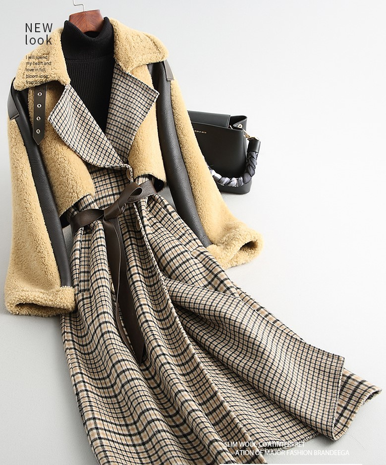◆◆◆有名デザイナー特別オーダー受付◆◆◆世界で自分だけのコート♪ウールレザー毛皮 トシープスキンラムXmas presentにいかが?(^^♪_色違いもあります