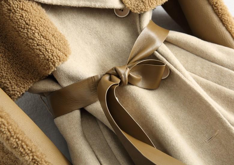 ◆◆◆有名デザイナー特別オーダー受付◆◆◆世界で自分だけのコート♪ウールレザー毛皮 トシープスキンラムXmas presentにいかが?(^^♪_画像8