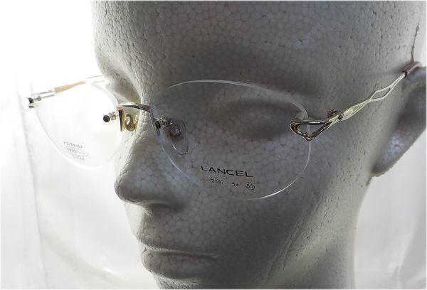 展示品 LANCEL メガネフレーム L-3397 55口17-135  _画像3