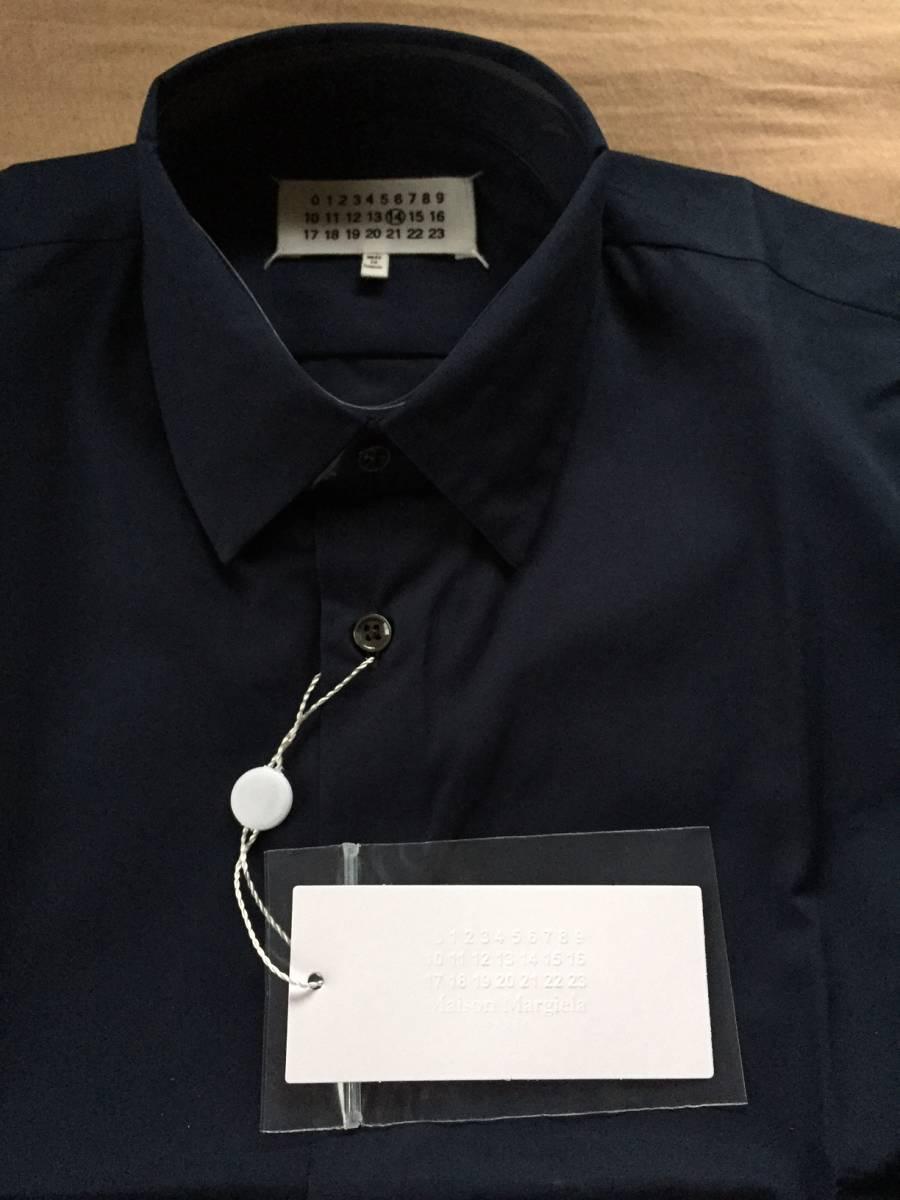 紺41新品48%off メゾンマルジェラ ポプリン 長袖 シャツ 17AW size 41 Maison Margiela 14 マルタンマルジェラ メンズ ダークネイビー_画像5