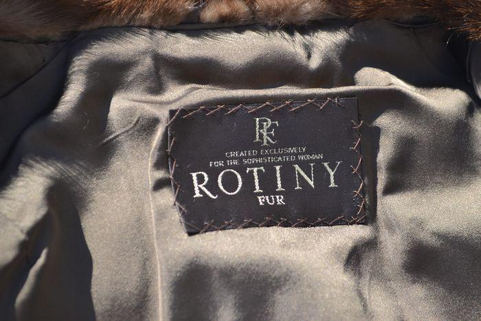 良品! MINK ROTINY ロティニー FUR ファー ミンク ハーフコート (レディース) ブラウン size9_画像4