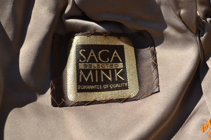 良品! サガミンク SAGA MINK 超高級 金サガ ミンクファー ハーフコート (レディース) ブラウン size11_画像6