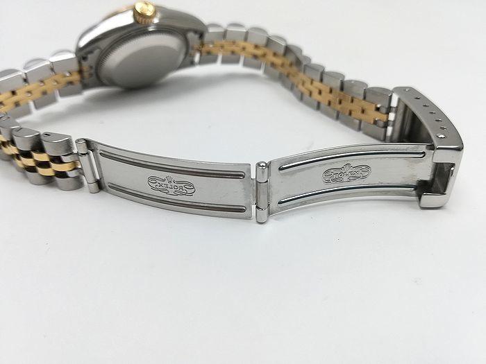 ROLEX ロレックス レディース 時計 デイトジャスト オートマチック 69173 YG/SS ホワイトローマン文字盤 ジャンク  _画像8