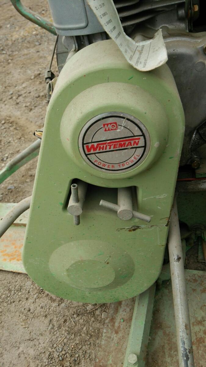 ホワイトマン パワートロウェル エンジン式土間ならし、建設機械_画像7