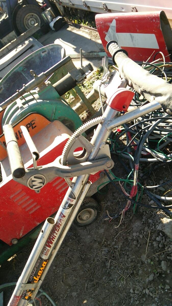 ホワイトマン パワートロウェル エンジン式土間ならし、建設機械_画像6
