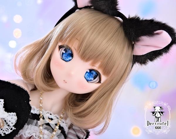 [Derteufel666]DDカスタムヘッドDDH01(セミホワイト)+レジンアイ★まみ★やや難