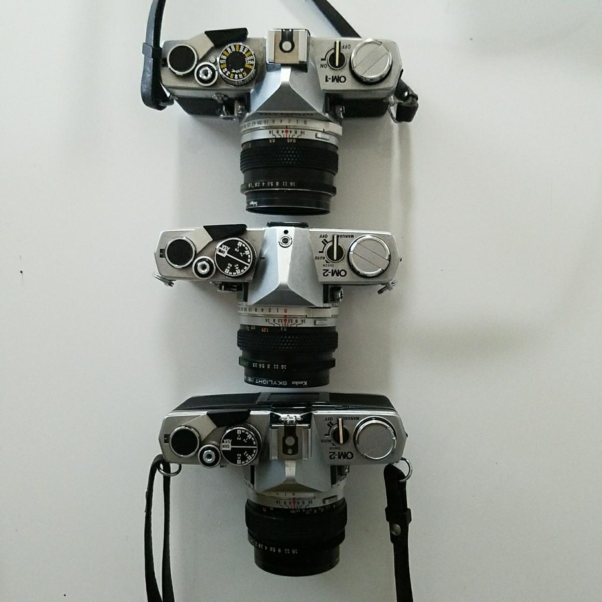 OLYMPUS オリンパス 一眼レフ カメラ セット OM-1 OM-2 OM-10_画像2