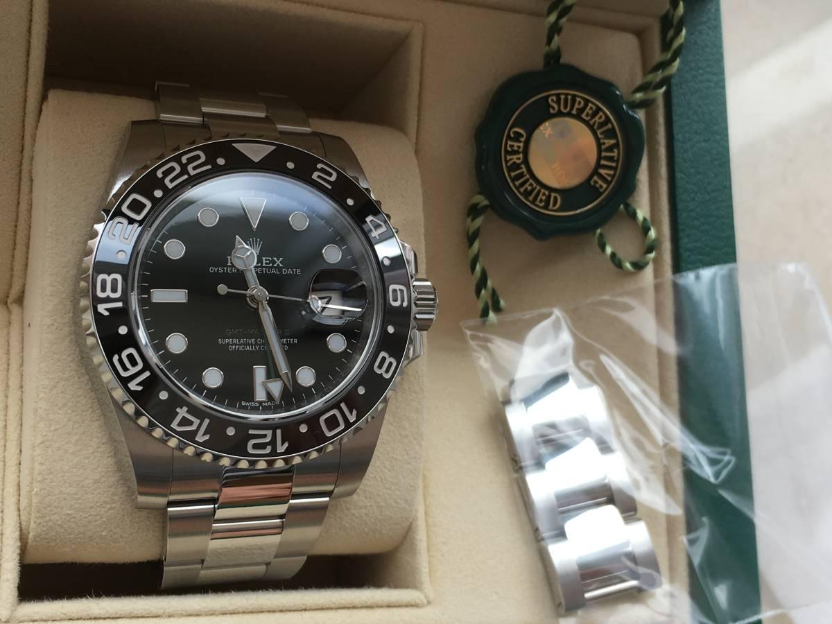 都内百貨店購入品 GMTマスター2 ステンレスモデル 116710LN 新品 未使用品 _画像4