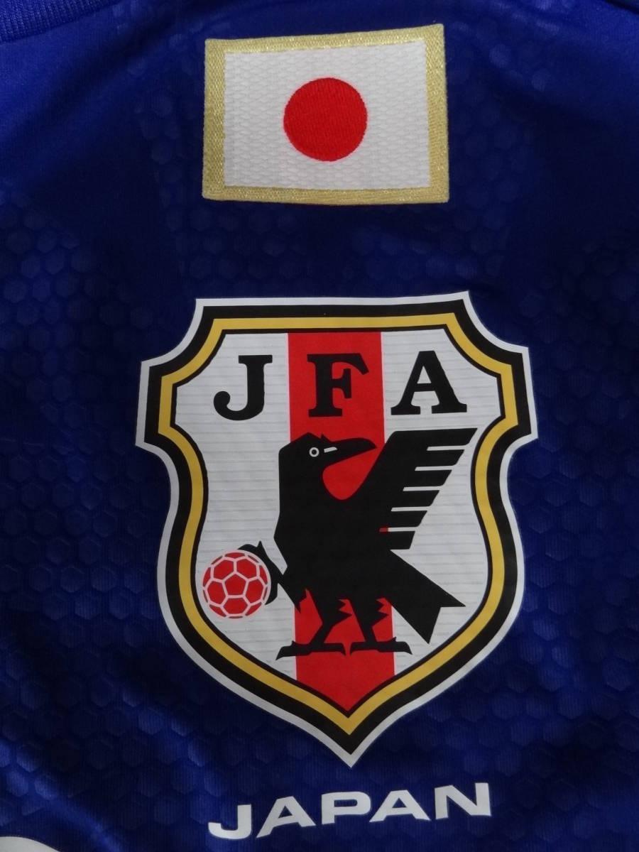 日本代表 #10 KAGAWA 香川 14/15 オーセンティック ホーム ユニフォーム S 美品 アディダス ADIDAS Japan 選手仕様_画像5