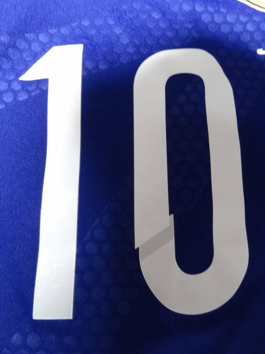 日本代表 #10 KAGAWA 香川 14/15 オーセンティック ホーム ユニフォーム S 美品 アディダス ADIDAS Japan 選手仕様_画像6