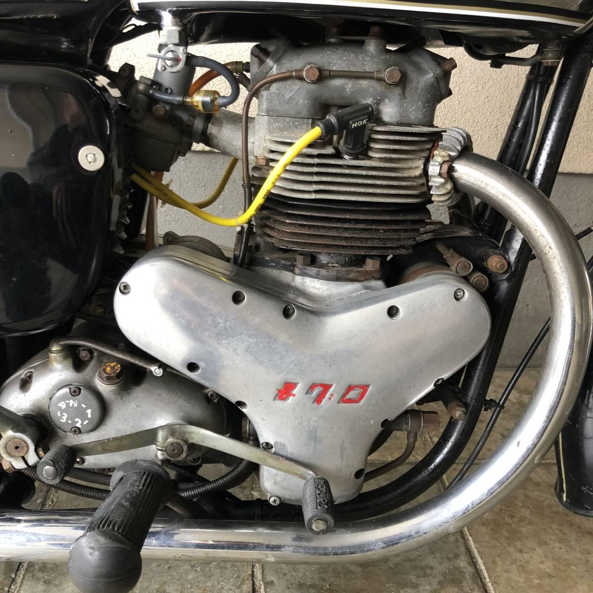 希少 1962年 メグロ K1 実動ベース車両 車検31年11月まで_画像4