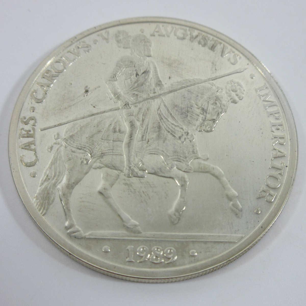 ■スペイン大型銀貨(1989年ヨーロッパ 33.62g プルーフ)5エキュ銀貨 b83_画像3