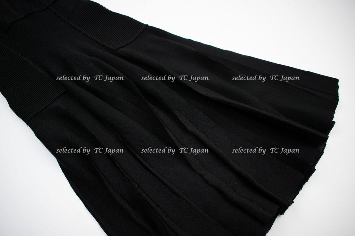 【CHANEL】新品紙タグ付き シャネル・ナオミワッツ着用 デザインの美しいブラック・ニット・ワンピース モデル着用 F36_画像7