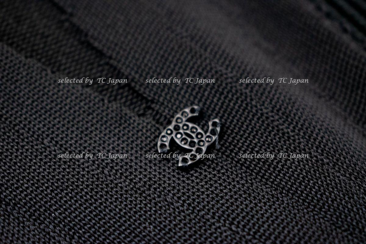 【CHANEL】新品紙タグ付き シャネル・ナオミワッツ着用 デザインの美しいブラック・ニット・ワンピース モデル着用 F36_画像9