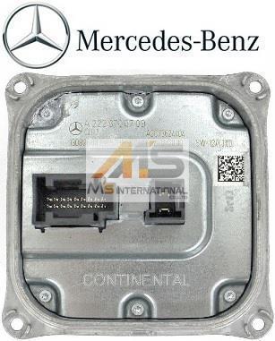 【M's】W222 W217 ベンツ Sクラス 純正品 ヘッドライトコントロールユニット//正規品 ボルテージコンバーター 222-870-0789 2228700789_画像1