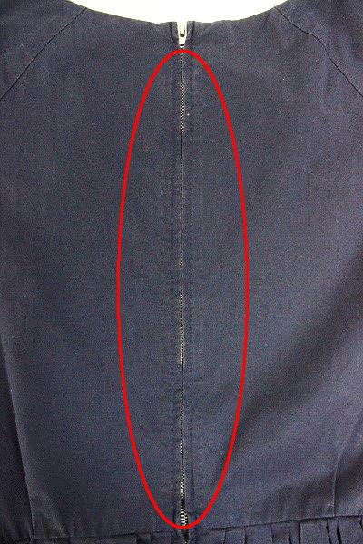 SOFIE D'HOORE ソフィードール コットン ギャザー 切替え ワンピース 34/-ドレス ネイビー フレア【2400010953934】_画像8