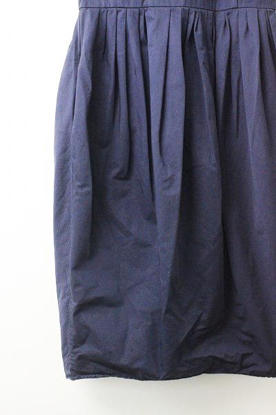 SOFIE D'HOORE ソフィードール コットン ギャザー 切替え ワンピース 34/-ドレス ネイビー フレア【2400010953934】_画像4