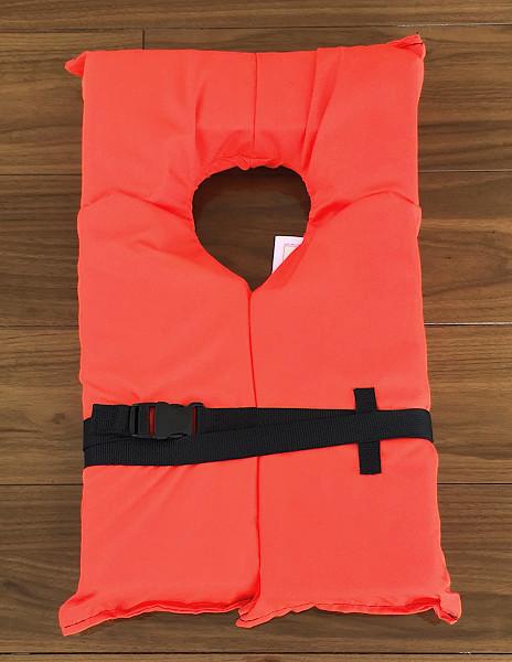 「ライフジャケット オレンジ 新品  4着 単位なら 収納袋付き」の画像1