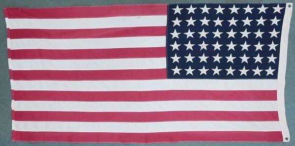 3T3958/ビンテージ 星条旗 48星 アメリカンフラッグ 国旗_画像2
