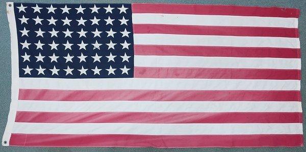 3T3958/ビンテージ 星条旗 48星 アメリカンフラッグ 国旗_画像3