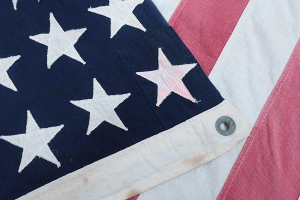3T3958/ビンテージ 星条旗 48星 アメリカンフラッグ 国旗_画像6