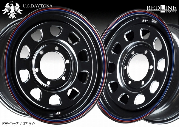 ■ U.S.Daytona デイトナ ■ KAPSEN RS01 215/65R16 タイヤ付 ブラック色 200系ハイエース他_画像1