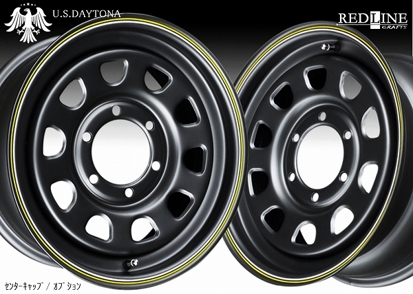 ■ U.S.Daytona デイトナ ■ KAPSEN RS01 215/65R16 タイヤ付 艶消しマットブラック色 200系ハイエース他_画像1