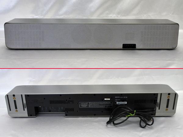 【大06】-507 DENON デノン DHT-FS5 シルバー 2008年製 音出確認済【リモコン欠品】ホームシアターシステム スピーカー 現状お渡し 中古品_画像2