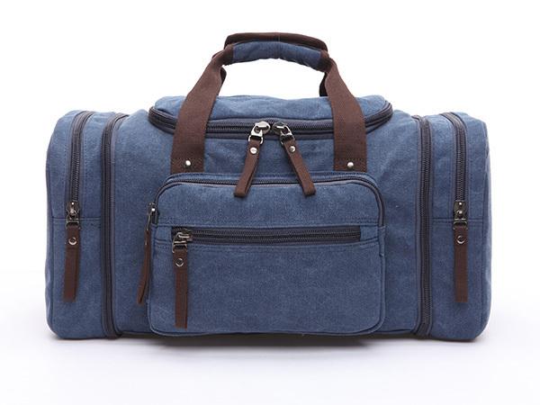 ボストンバッグ 旅行鞄かばん 今季人気新作 大容量 キャンバス メンズ 2WAY ショルダー付き 旅行出張 4日3泊 底防滑ゴム付き 8642 ネイビー_クオリティは非常に優れている