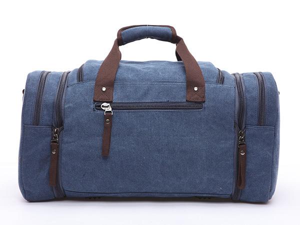 ボストンバッグ 旅行鞄かばん 今季人気新作 大容量 キャンバス メンズ 2WAY ショルダー付き 旅行出張 4日3泊 底防滑ゴム付き 8642 ネイビー_細かいまでしっかり作り