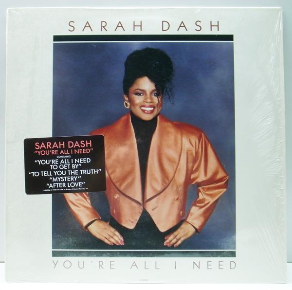 美品!! シュリンク+ハイプ・ステッカー USオリジナル SARAH DASH You're All I Need ('88 EMI) PATTI LABELLE, RAY, GOODMAN & BROWN 参加_画像1