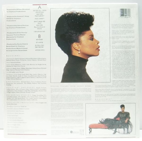 美品!! シュリンク+ハイプ・ステッカー USオリジナル SARAH DASH You're All I Need ('88 EMI) PATTI LABELLE, RAY, GOODMAN & BROWN 参加_画像2