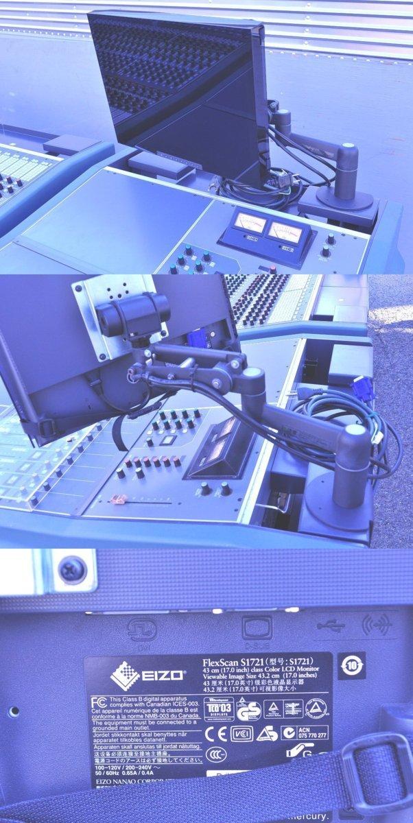 T008 不二音響 スタジオ機材 ミキサー サウンドコントロールコンソール HYFAX EXP-HA EXP-MST EXP-LO EXP-REC モニター S1721付_画像8