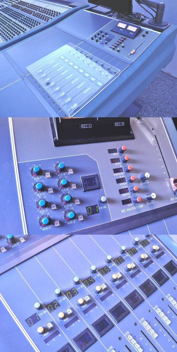 T008 不二音響 スタジオ機材 ミキサー サウンドコントロールコンソール HYFAX EXP-HA EXP-MST EXP-LO EXP-REC モニター S1721付_画像9