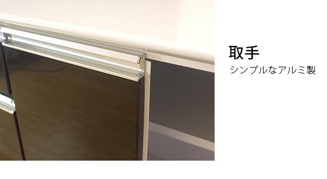 カウンター ブラウン 幅109cm カウンターテーブル バーカウンターテーブル 家電収納 高さ89cm 間仕切りカウンター キッチン収納 nd20b_画像4