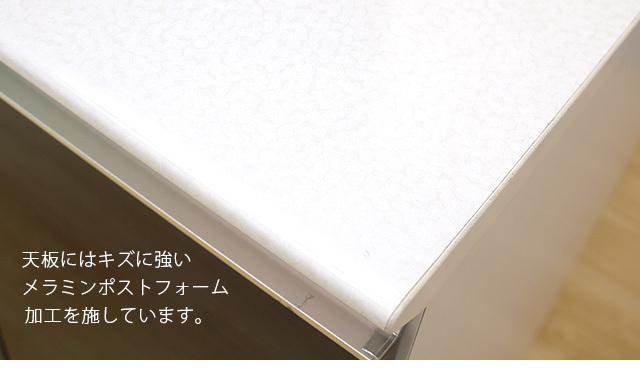 カウンター ブラウン 幅109cm カウンターテーブル バーカウンターテーブル 家電収納 高さ89cm 間仕切りカウンター キッチン収納 nd20b_画像3