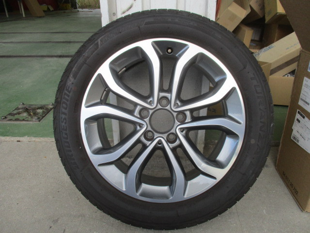 ベンツ純正 W205 Cクラス 17インチアルミホイール タイヤ付1本 205 401 0200 _画像1