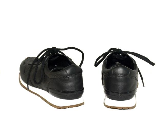 富士屋◆送料無料◆トリーバーチ Tory Burch スニーカー ブラック レザー サイズ6M 展示品_画像4