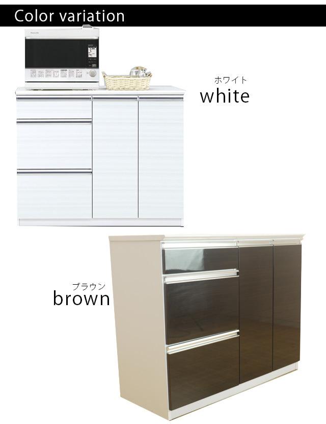 カウンター ブラウン 幅109cm カウンターテーブル バーカウンターテーブル 家電収納 高さ89cm 間仕切りカウンター キッチン収納 nd20b_画像8