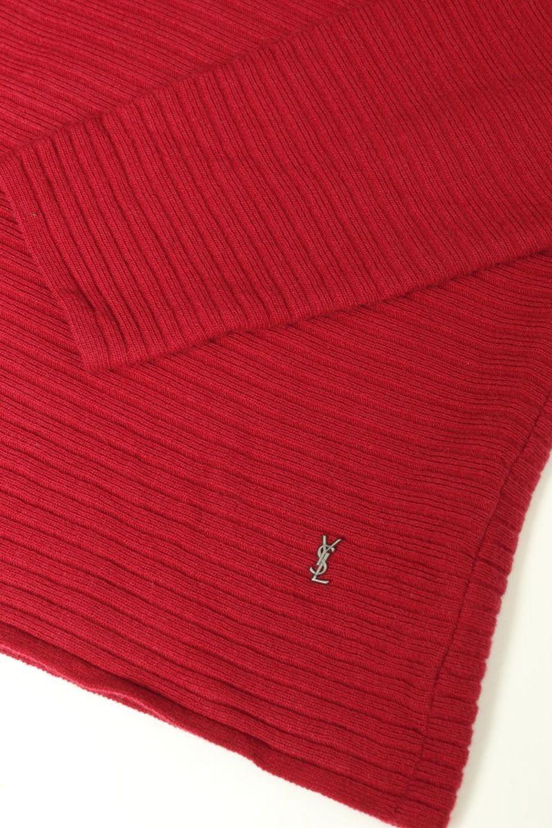 イヴサンローラン Yves Saint Laurent セーター ニット ウール100 カシミヤ カシミア イタリア製 M_画像4
