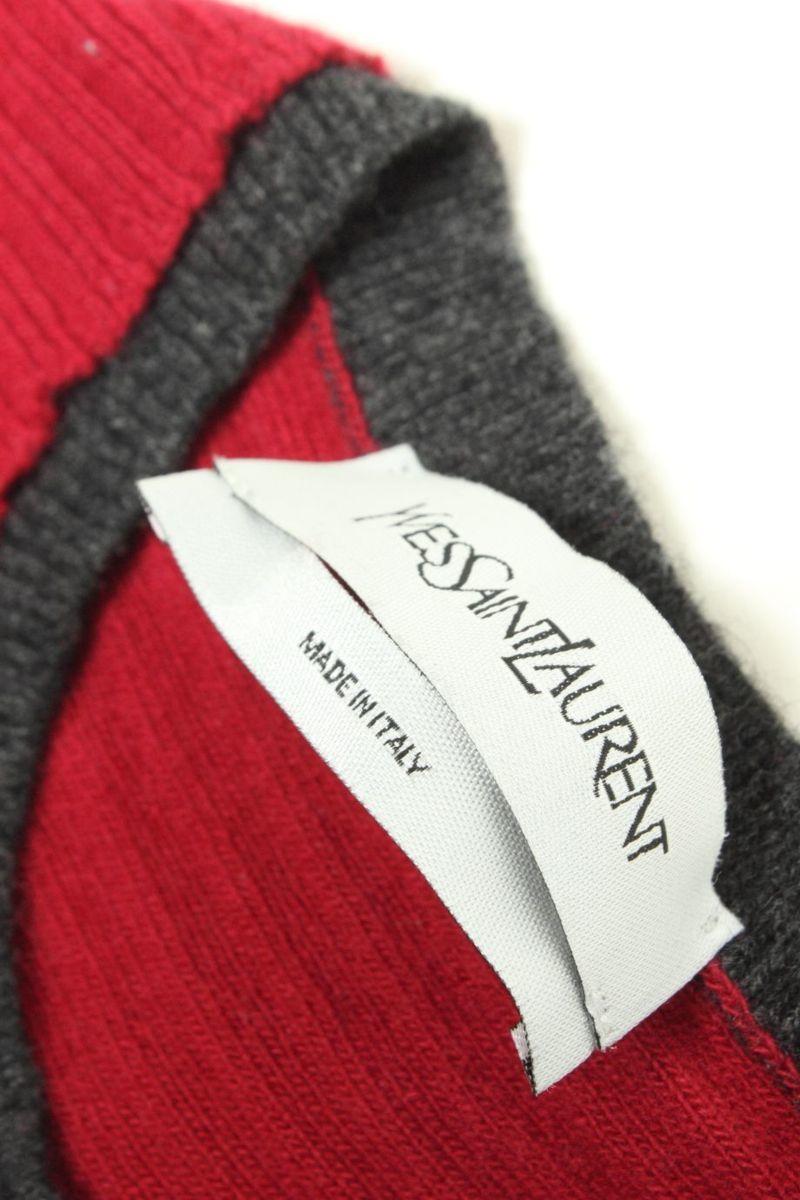 イヴサンローラン Yves Saint Laurent セーター ニット ウール100 カシミヤ カシミア イタリア製 M_画像7