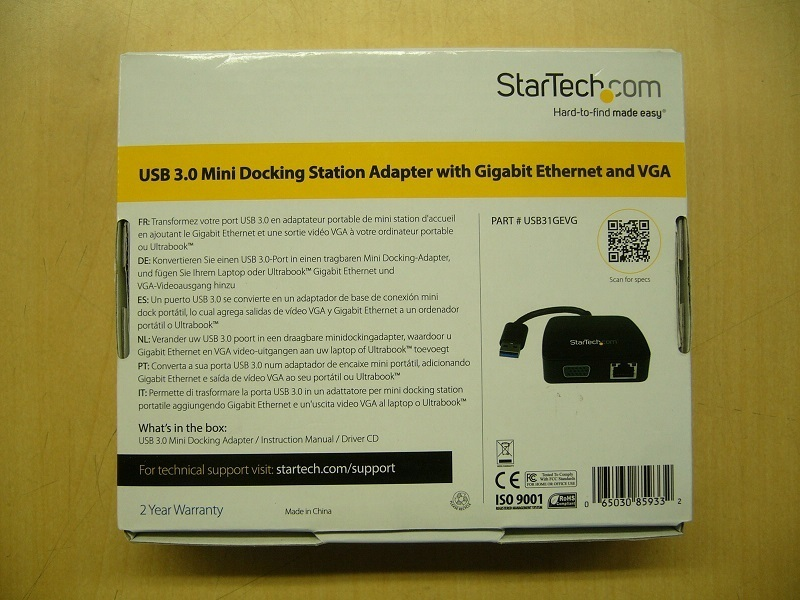 ★StarTech.com USB3.0接続VGA/GbE対応ドッキングステーション USB31GEVG★#02_画像2