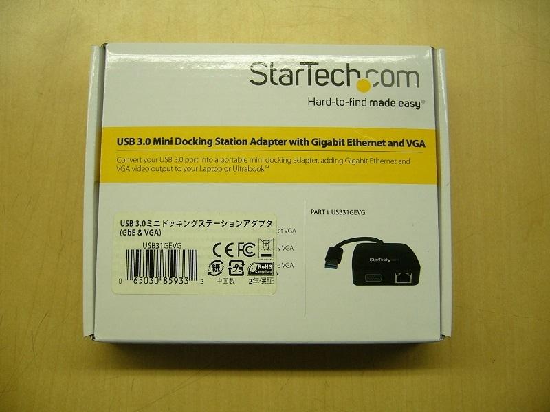 ★StarTech.com USB3.0接続VGA/GbE対応ドッキングステーション USB31GEVG★#02_画像1