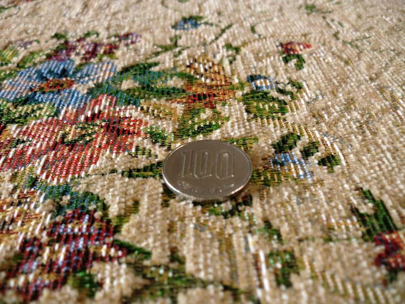 ラグ ラグマット 60×90 玄関マット ベルギー製 玄関 小花柄 ゴブラン織絨毯 春 夏 西海岸 ホットカーペット対応 長方形 北欧 ベージュ_画像4