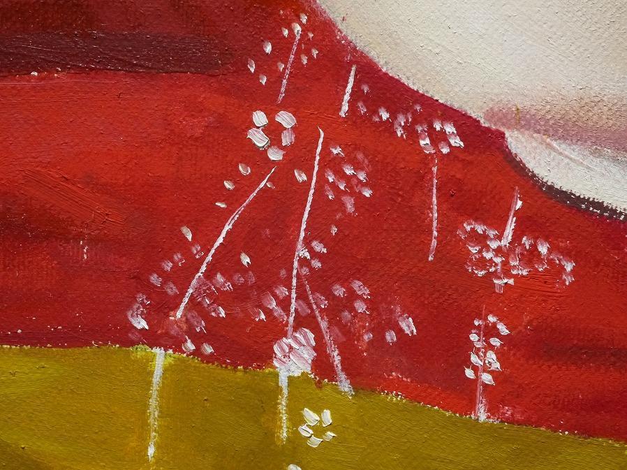 ■真作保証■【青柳ナツエ】 油彩画 F8号『白磁』■サインあり■額装:48×61.5cm■_画像5
